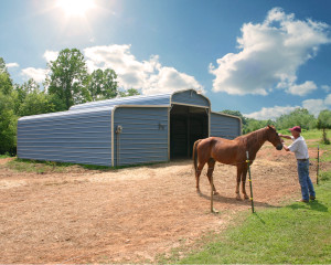 Lower Horse Barn Cost with our Metal Barn - County Style