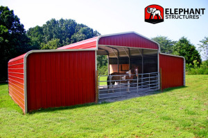 2 Stall Barn Custom Shelter