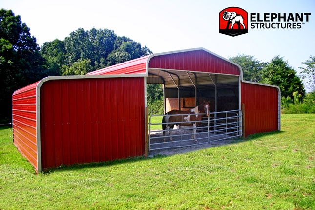 2 Stall Barn Price Horse Barn Elephant Barns