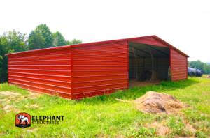 Metal Barn Sold in North Carolina - Elephant Barns