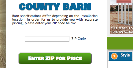 Metal Building Configurator for Zip Codes