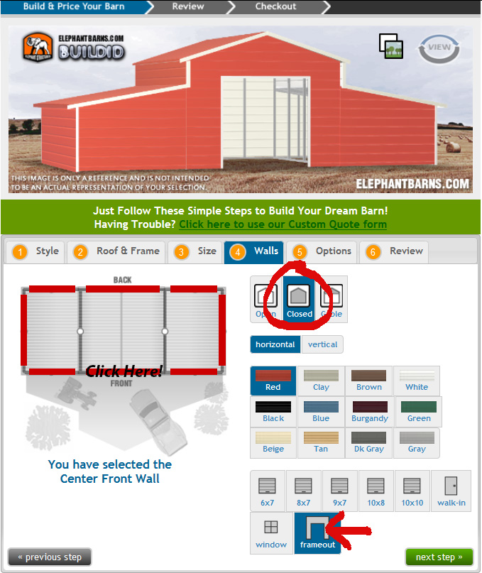 Custom Barn Estimate