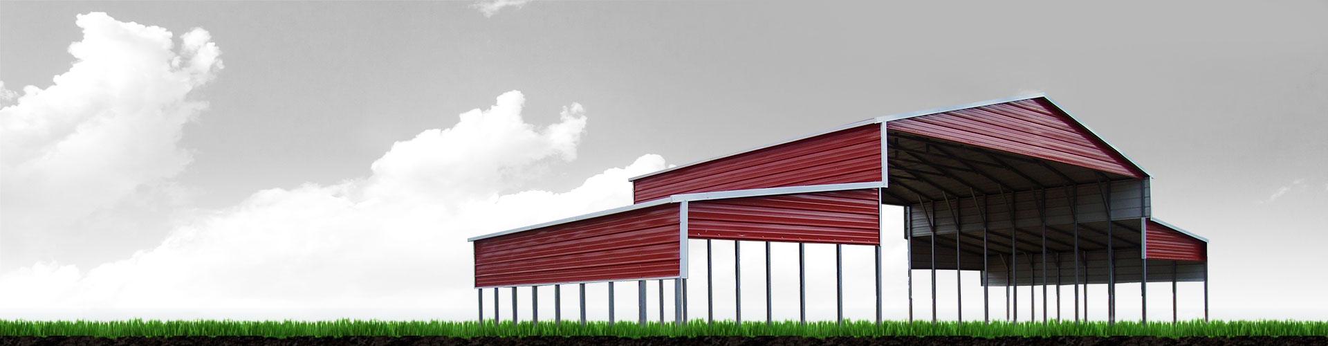 barns carports barn garages horse edited end red metal gatorback kits on corvette sale