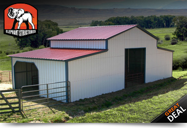 Metal barns metal barn kits metal buildings elephant for Barn kits prices