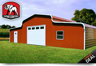 Metal barns metal barn kits metal buildings elephant for Metal barn pictures
