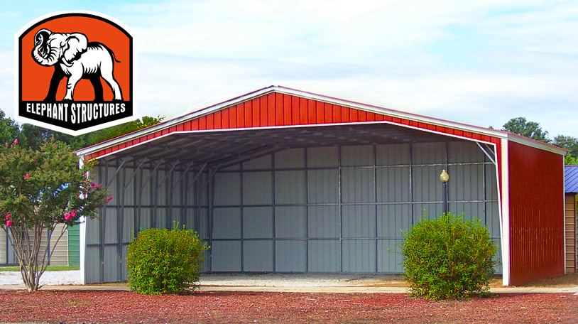 Instant barn prices on a large metal shelter.