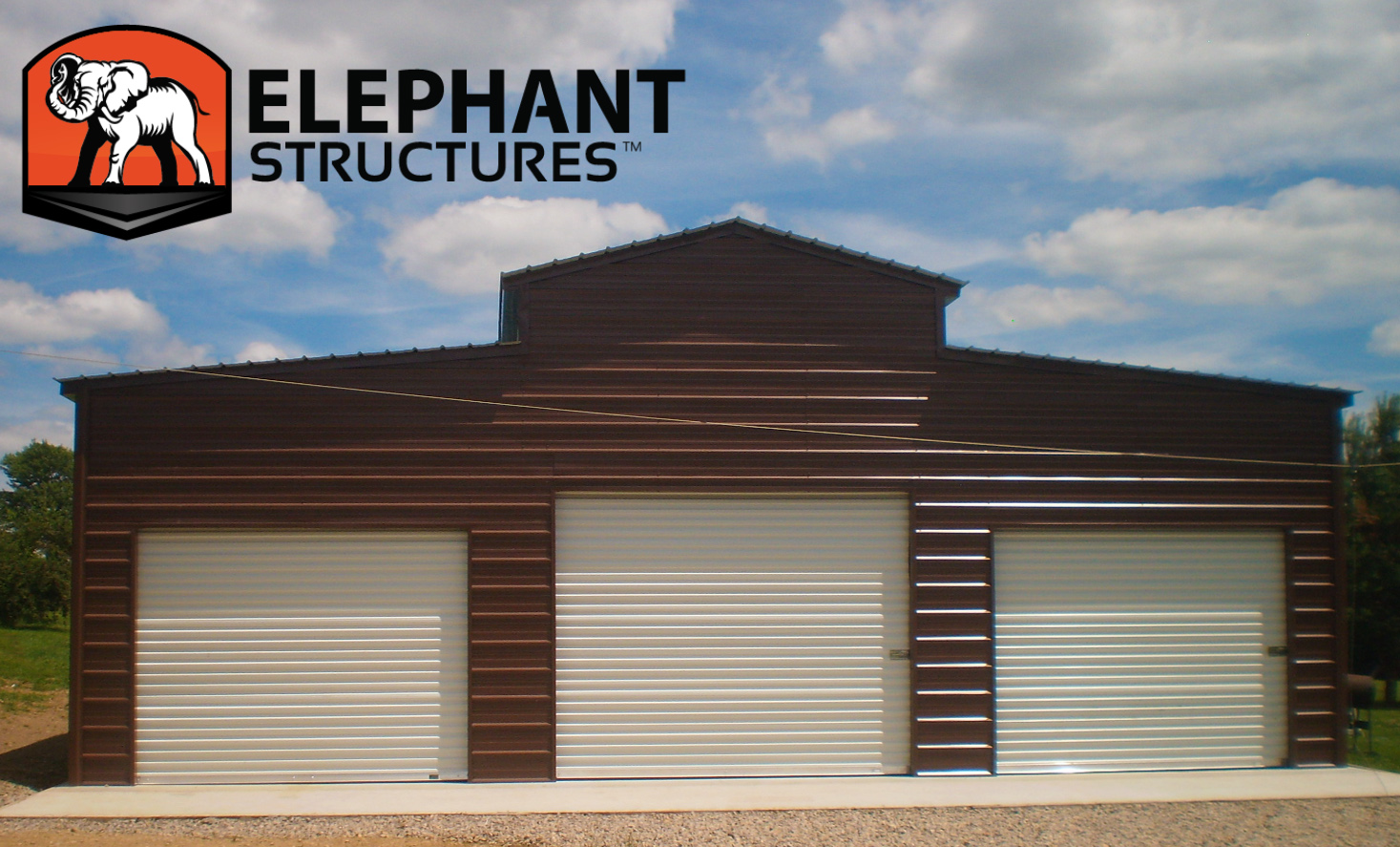 Organize your backyard with a metal barn from Elephant!