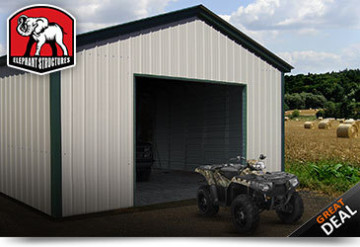 Metal ATV Storage Building
