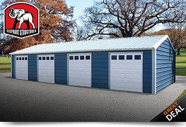 Four Car Metal Garage
