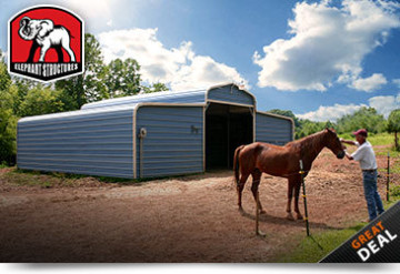 Metal Horse Barn County Style
