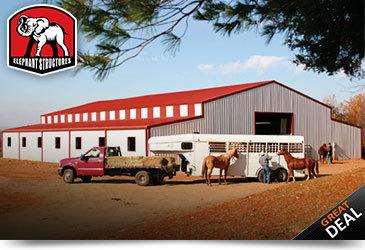 Large Metal Horse Barn