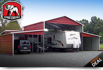 Metal RV Storage Structure