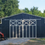 Commercial metal building with